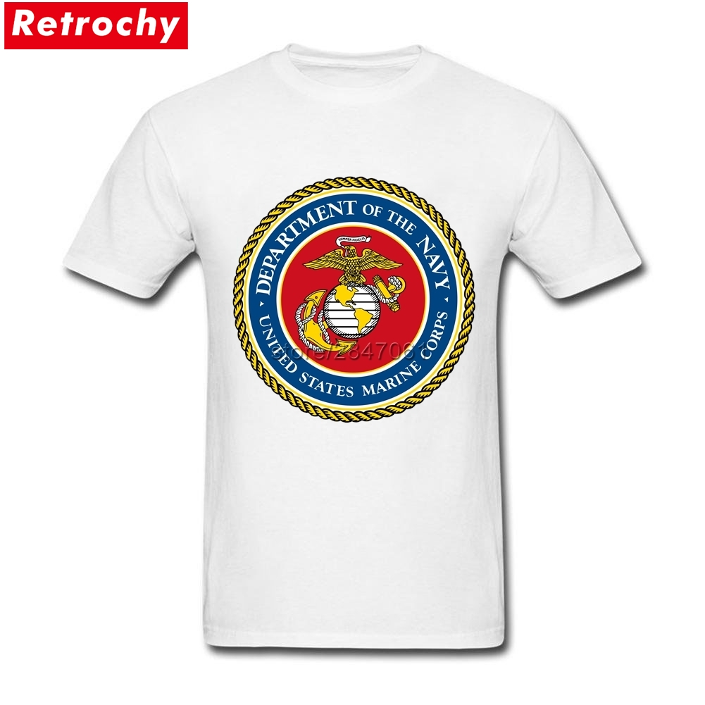Men's <font><b>USMC</b></font> <font><b>T</b></font> <font><b>Shirt</b></font> Seal of the United States Marine Corps Cheap Tee <font><b>Shirt</b></font> Personalised <font><b>T</b></font>-<font><b>shirt</b></font> For Men Short Sleeve 3XL Clothing image
