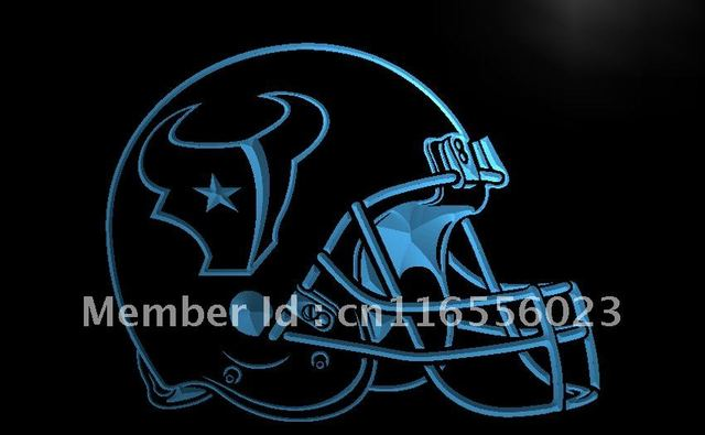 LA240 Houston Texans Helmet Bar Pub LED Neon Light Sign home