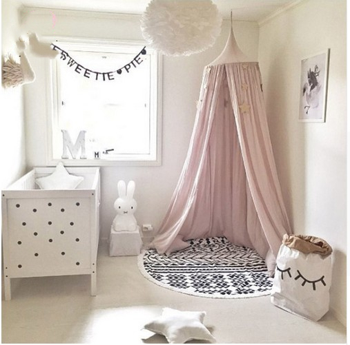 Baby Bed Curtain Children Room Decoration Crib Netting Baby Tent Cotton Hung Dome Baby Mosquito Net Photography PropsBaby Bed Curtain Children Room Decoration Crib Netting Baby Tent Cotton Hung Dome Baby Mosquito Net Photography Props
