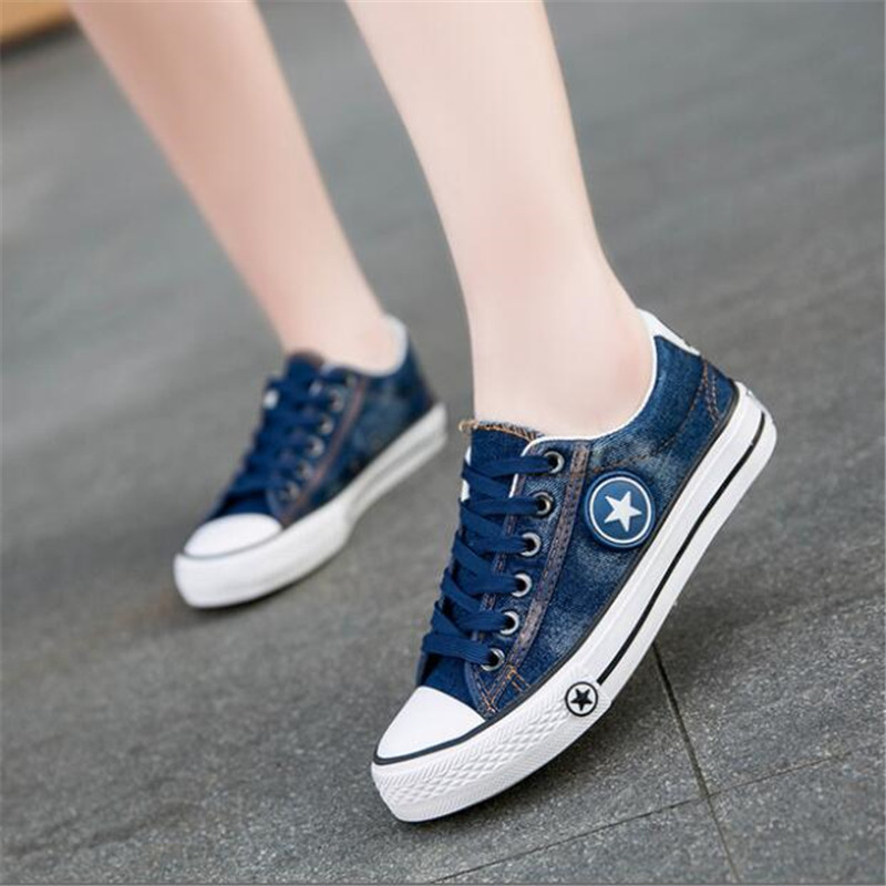 2019 new fashion cowgirl casual shoes female summer canvas shoes sports shoes with ladies basket ladies stars female in Women 39 s Vulcanize Shoes from Shoes