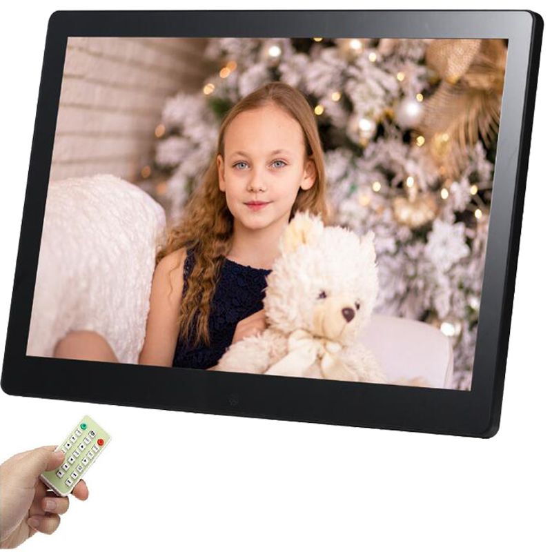 12 inch Tft Lcd Led Digital Frame Photo Full Function, Mp3, Movie, Remote with for Sd Card And Usb free shipping