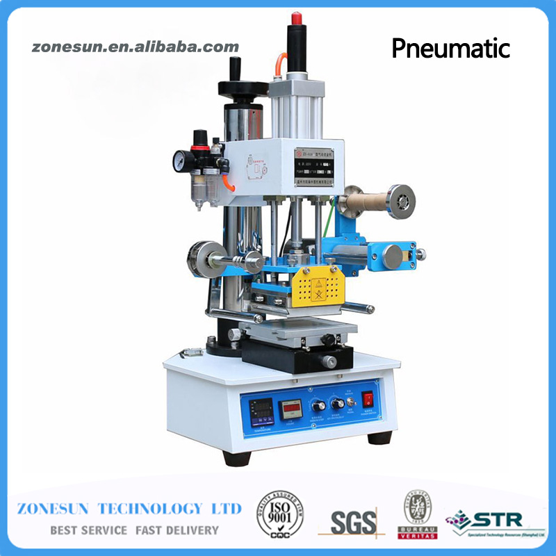 Pneumatic Hot Foil Stamping Machine ZY-819H2 116*120mm Printable Area hot stamping machine hot foil pneumatic stamping press logo printer for leather paper etc customized printable area zy 819b