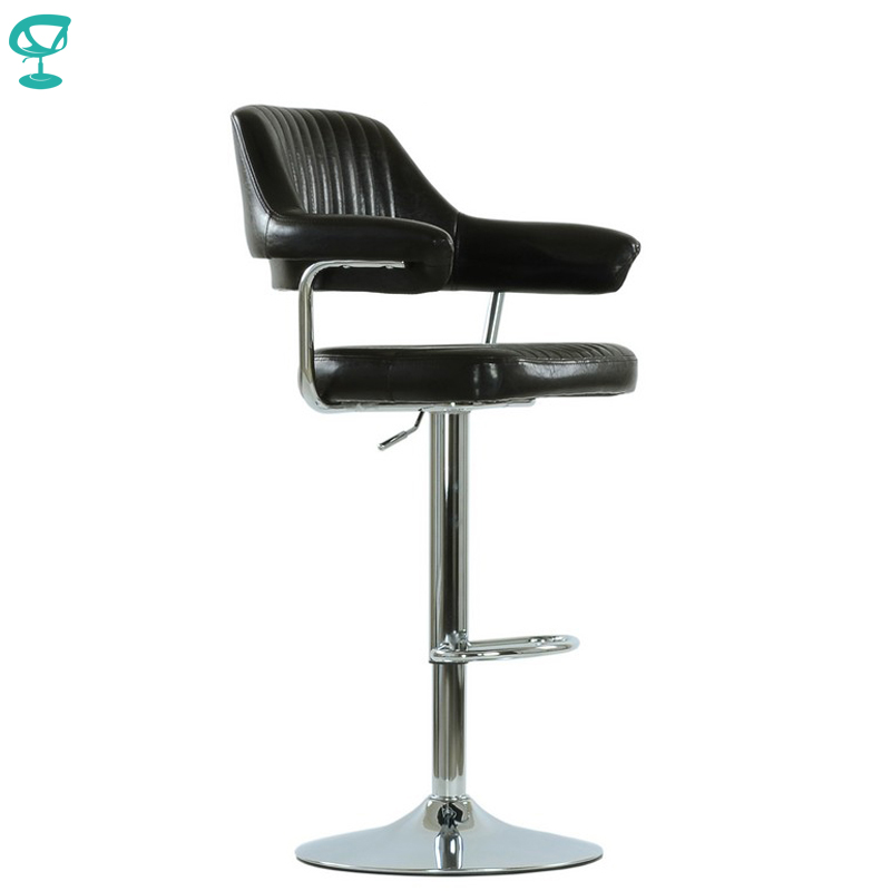 95528 Barneo N-152 Leather Kitchen Breakfast Bar Stool Swivel Bar Chair Dark Brown Color Free Shipping In Russia