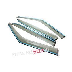 Plastic 4pcs set window visor vent shade sun rain deflector car styling for hyundai creta ix25.jpg 250x250