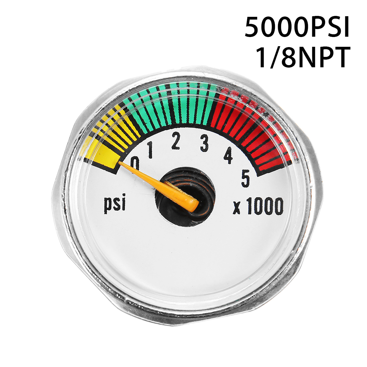2*Paintball PCP Air Rifle Pressure Gauge Mini Micro Manometer 1//8NPT 0-3000PSI