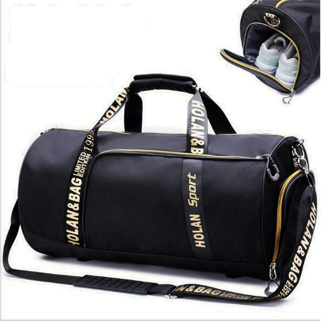 New Style Printing Gym Bags Women Men Waterproof Nylon Large Capacity Travel Bag Football Storage Crossbody