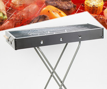 Hot new outdoor camping BBQ Grill Outdoor Cooking artifact folding stainless steel grill applicable persons 6-18 people