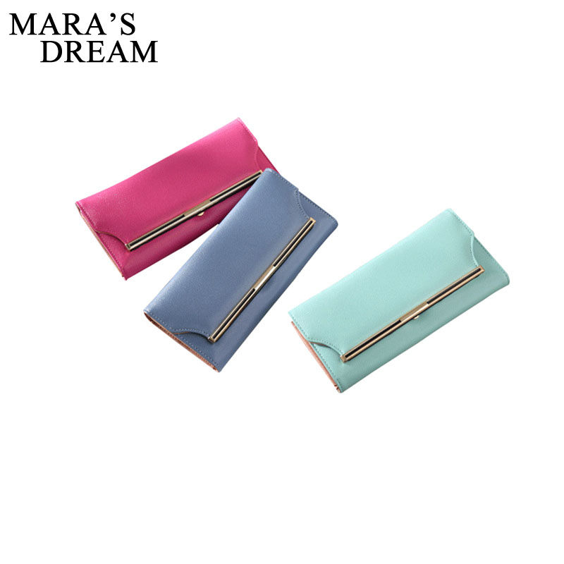 Mara's Dream Fashion Women Wallets PU Leather Long Women Clutch Bag Hasp Wallet Card Holders Clutch Money Bag Feminina Carteira genuine leather wallet women card holders clutch money bag luxury female carteira feminina long wallets ladies hasp purse