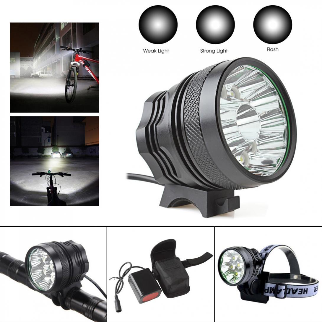 18000LM Waterproof 12 X XM-L T6 LED Super Bright Bike Light Camping Fishing Bicycle Cycling Flashing Light Lamp + Charger