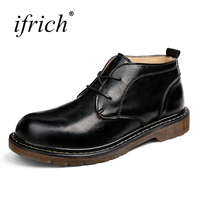 Shoes Men Luxury Brand Comfortable Male Split Leather Flat Shoes Lace Up Black Man Work Safety Footwear Cheap