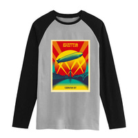Led Zeppelin Swan Song Vintage Fashion Men Women Size Raglan Full Sleeves Long Sleeves T Shirt