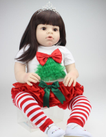 28 inch Vinyl Big Size Toddler Dolls Reborn Arianna Christmas Doll Lovely Reborn Babies Princess Toy Gift