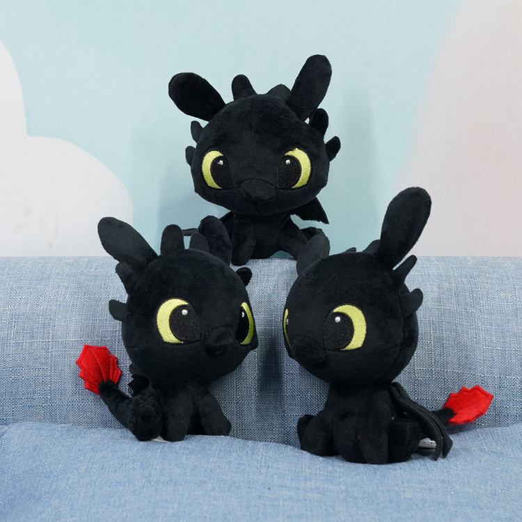 Plush Movie How to Train Your Dragon Night Fury Toothless soft plush toys for children gift