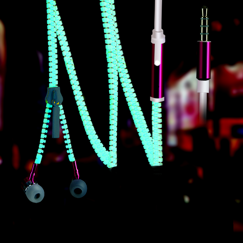 BON CREATION Glow Earphones Sport Earpieces Metal Zipper Glowing Headset Luminous Night Light Stereo Bass Headphones With Mic naresh kumar bainsla dhiraj singh and r s beniwal fusarium wilt of pigeonpea cajanus cajan l millsp a molecular study