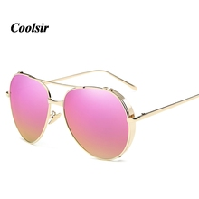 2017 Coolsir Fashion Colorful Driving Mirror Women And Men Contracted High Quality UV400 Polarized Sunglasses Elegant Woman8096