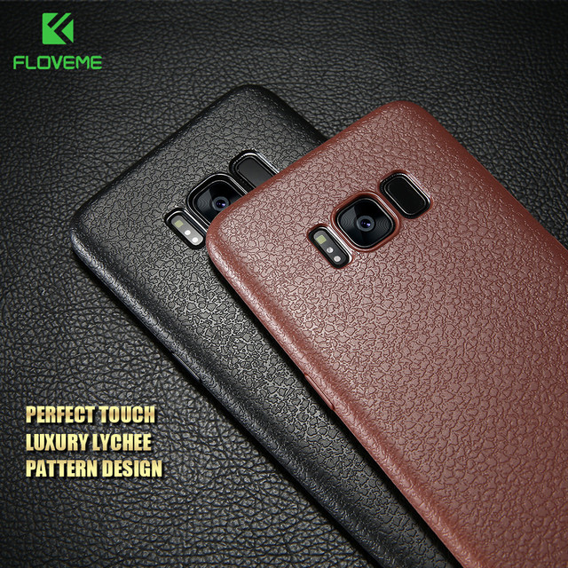 sports shoes bdb1e 84404 US $1.69 35% OFF|FLOVEME Ultra Thin Leather Skin Case For Samsung S8 S9  Plus Note 9 Business Case For Samsung Galaxy S8 S9 Plus Back Protector-in  ...
