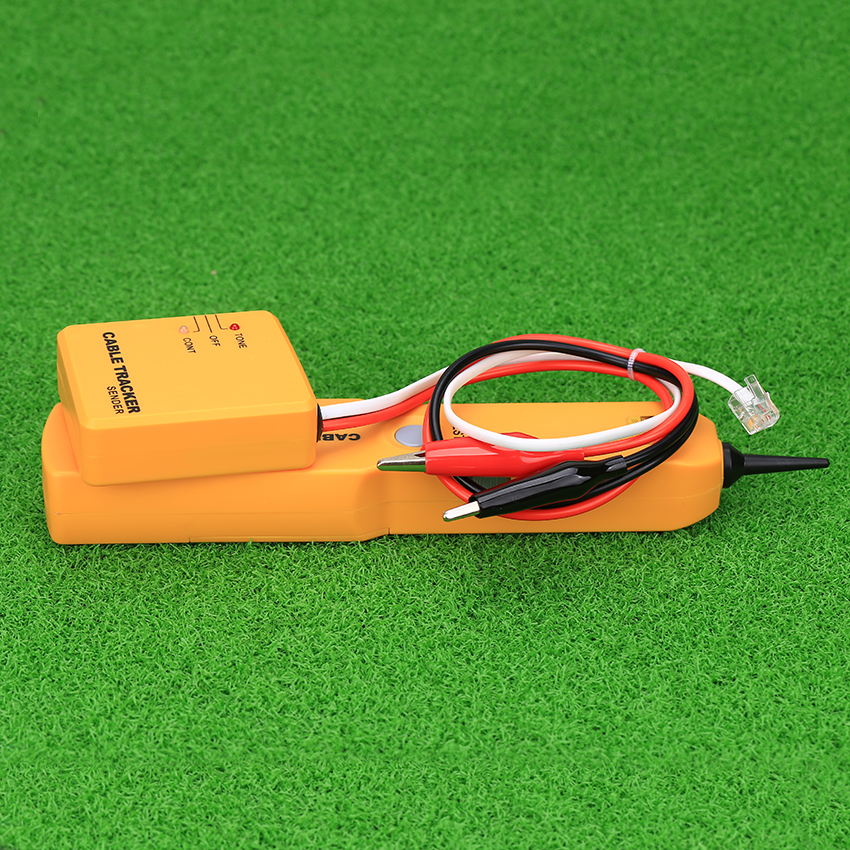 KELUSHI Portable RJ11 Réseau Téléphone Téléphone Cable Tester Traqueur de Fil De Toner Tracer Diagnostiquer Finder Détecteur Réseau Outils
