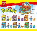 6pcs Pocket Monster Squirtle Charmander Pikachu Bulbasaur Building Blocks Pokemon Set Brick Compatible   DIY Toy