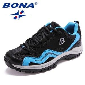 Image 2 - BONA คลาสสิกใหม่สไตล์ผู้หญิงเดินป่ารองเท้ากลางแจ้งรองเท้าวิ่ง Lace Up รองเท้าสบายจัดส่งฟรี