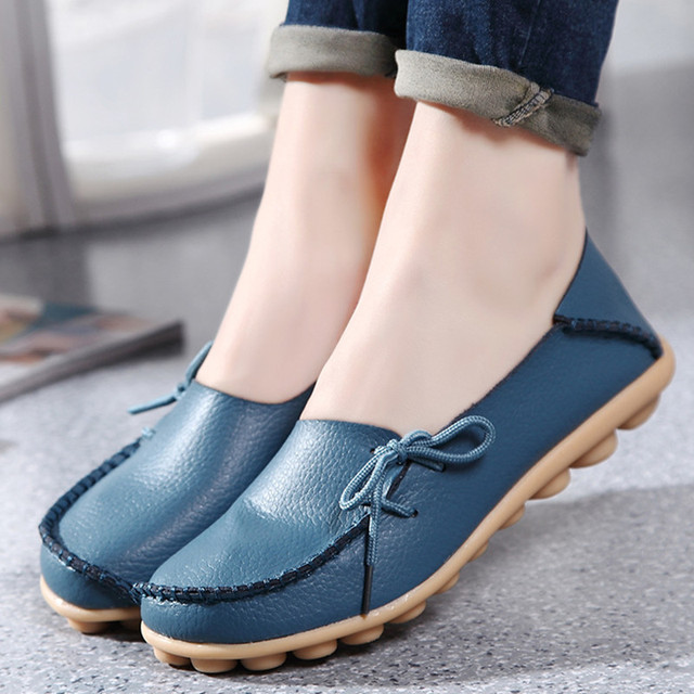 ae8470922d5e Nice Pop Tide Women Flats New Ladies Shoes Fashion Solid Soft Loafers Summer  Women Casual Flat Shoes ST13