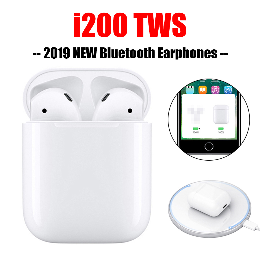 BUYFUN i200 tws Bluetooth écouteurs sans fil de charge Pop Up Touch Hifi Sport écouteurs i200tws pas 1:1 réplique i100 i80 tws i30