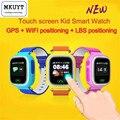 Frete Grátis Q90 Telefone GPS Posicionamento Crianças Da Forma do Relógio de 1.22 Polegada cor da tela de toque wifi sos smart watch pk q80 q50 q60
