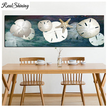 Large DIY Diamond Painting Still Life Starfish Sand Dollar Embroidery Beads Cross Stitch Full Square/Round Mosaic Decor FS4694 large diy diamond painting abstract venice city of water embroidery beads cross stitch full square round mosaic decor fs4695
