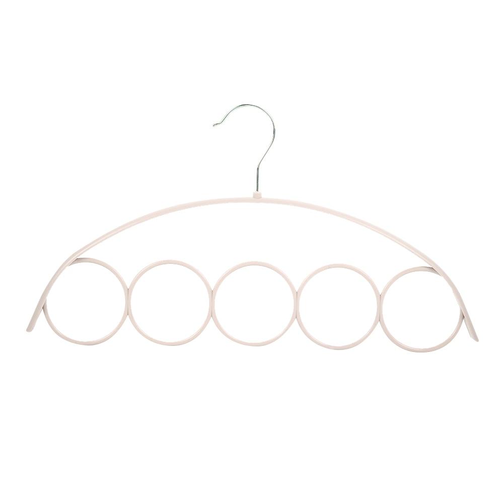 Пластик вешалки для ремней стойка для шарфов 5 отверстий органайзер для шарфов вешалка держатель для галстуков практичный 3 цвета Домашняя одежда брюки вешалка для хранения - Цвет: beige
