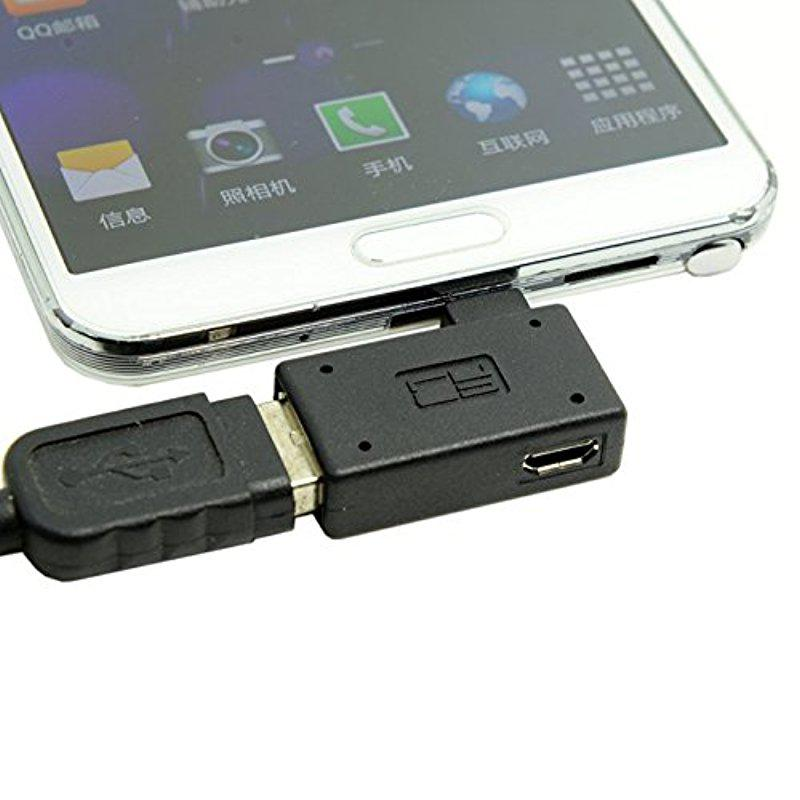 Host-Adapter Usb-Power Angled Micro Galaxy Note2 Right Cell-Phone--Tablet OTG With