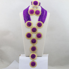 Luxury Purple  Mix  Golden  Jewelry  Set   Party Costume Jewelry Sets   Wholesale Free Shippinghx212