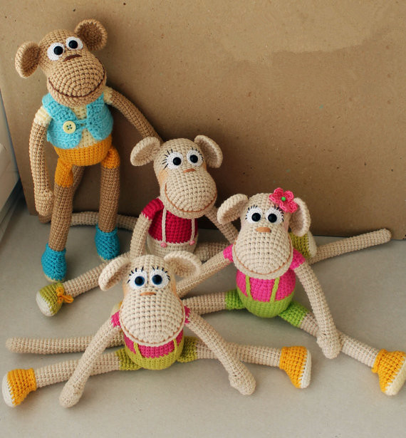 Amigurumi Crochet Toy - Monkey 8