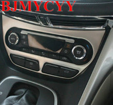 BJMYCYY free shipping Automobile automatic air conditioning panel metal decoration for ford escape kuga 2013