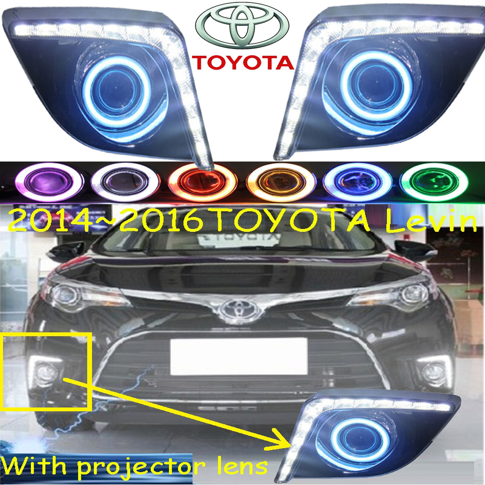 LEVIN fog light LED,2014~2016;Free ship!LEVIN daytime light,2ps/set+wire ON/OFF:optional:Halogen/HID XENON+Ballast,LEVIN bqlzr dc12 24v black push button switch with connector wire s ot on off fog led light for toyota old style