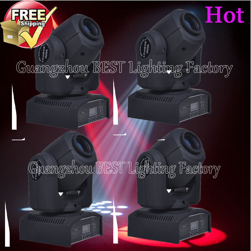 4pcs/lot quick shipment new led spot moving head light 30w 8/11 channels dmx stage light in stock 100pcs lot bu4226g tr new in stock