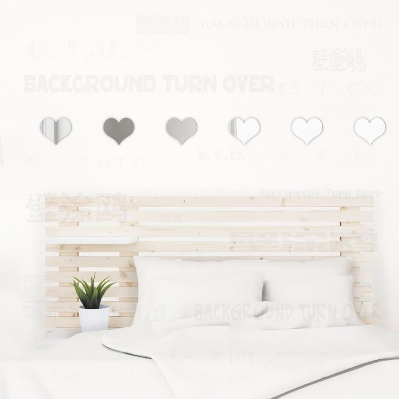 DIY cute hearts decorative mirror wall stickers living room bedroom nursery kids children baby room decor decoration home R100