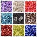 Arco iris 11/0 2.2mm 37500 unids/pound Fabricación De Joyas de Cristal de la semilla de Cristal Decoración de DIY cuentas 2cut Transparente Rojo Verde Azul Claro