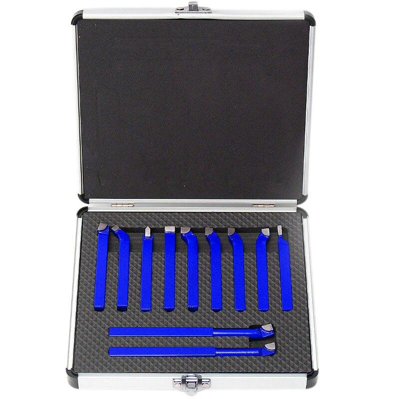 11 個金属カーバイド Cnc 旋盤ツール超硬ろう先端カッターツール切削セットキット溶接旋削工具ホルダー -