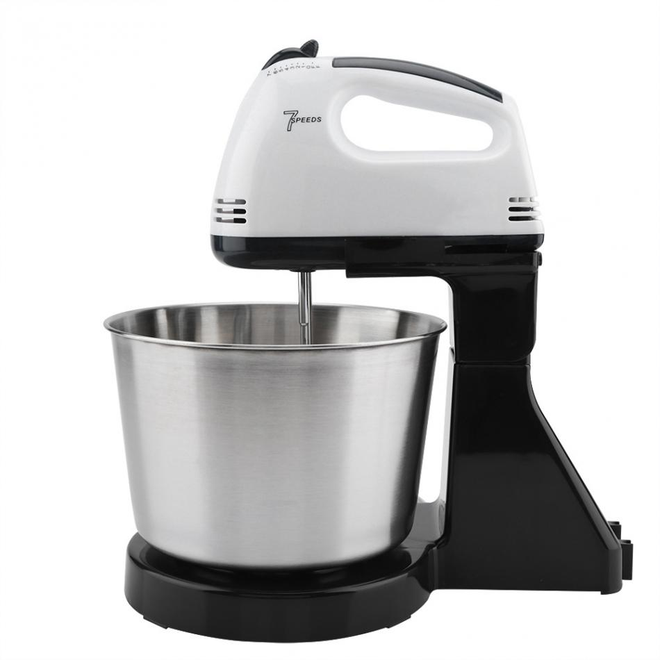 HTB1idmmatjvK1RjSspiq6AEqXXaO 230v 7 Speed Automatic Whisk Hand Food Mixer Electric Stand Mixers Handheld Flour Bread Egg Beater Blenders with Bowl EU Plug