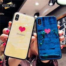 KISSCASE Lovely Heart Case For iPhone 6 6S 7 8 Plus X Love Phone Back Covers Capa Caso Funda