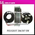 Marca Nueva PV6 SD6V12 COMPRESOR AUTO AC Embrague Para El Coche Peugeot 206 307 SW Pullpy Exterior Diameter125mmVoltage12 Teniendo Size355520