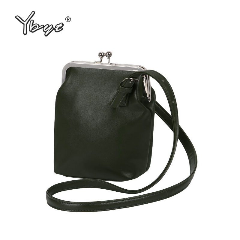 купить YBYT brand 2018 new vintage casual PU leather bucket bags hotsale ladies cell phone evening bag shoulder messenger crossbody bag по цене 666.38 рублей