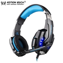 EACH 3.5mm G9000 Gaming Headphone Headset Noise Reducing Over-Ear Headband with Mic LED Light for Laptop/Computer/Mobile Phone