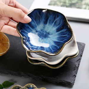 Image 5 - Ceramic Storage Tray Creative Plant Shape Serving Tray Dessert Dish Sushi Plate Display Trays for Home Resturant Decor