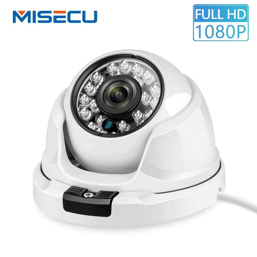 MISECU 2.8mm Wide Angle IP Camera 1080P H.265 Outdoor Indoor Metal Anti-vandal Onvif  P2P IR Night Surveillance CCTV Dome Camera