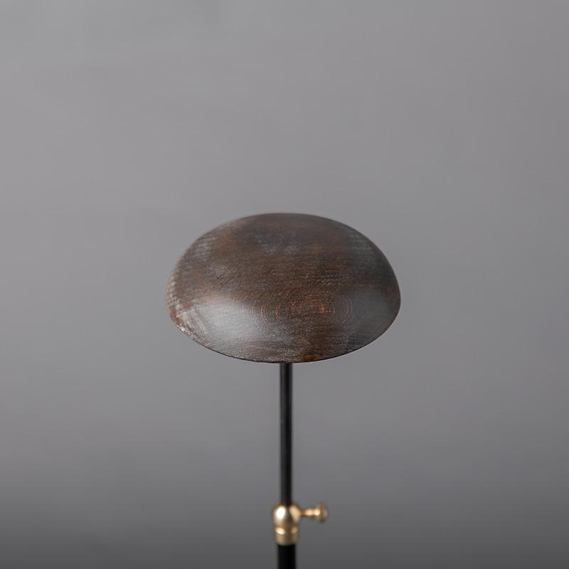 Сделанный вручную из массива дерева Поднос Винтажный старый держатель шляпы промышленный стиль металлическая посадка напольный Регулируе... - 3