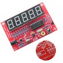 1Hz-50 МГц счетчик частоты тестер кварцевый генератор частоты измерения цифровой Дисплей DIY комплект оборудования