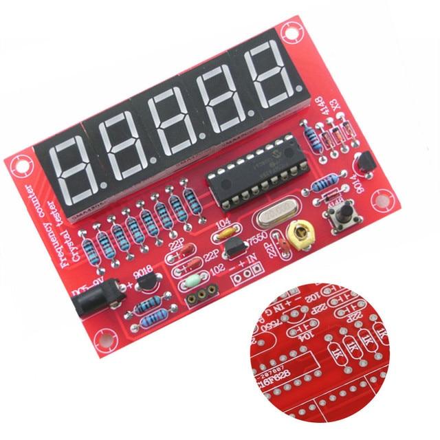 1 hz-50 mhz Frequentie Counter Tester Kristal Oscillator Frequentie Meting Digitale Display DIY Apparatuur Kit