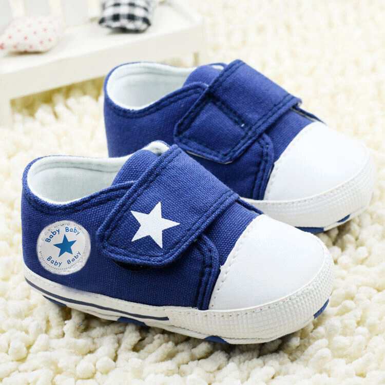 2017 Breathable Canvas Shoes 0-18 month Boys Shoes start Comfortable Girls Baby Sneakers Kids Toddler Shoes