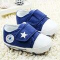 2017 Zapatos de Lona Respirables 0-18 meses Niños Zapatos Cómodos de Las Muchachas Zapatillas de Deporte Del Bebé Niños Zapatos de Niño