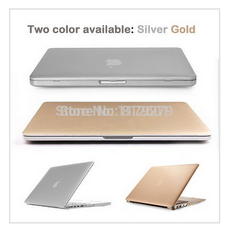 laptop bag case 3 in 1Silver gold Sleeves Covers Cases for Macbook air 11 12 13 pro 15 retina+ US clear TPU+LCD without logo